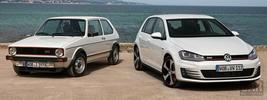 Volkswagen Golf GTI 2013 and Volkswagen Golf I GTI